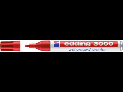 edding Permanentmarker 3000 rot Rundspitze 1,5-3 mm