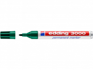 edding Permanentmarker 3000 grün Rundspitze 1,5-3 mm