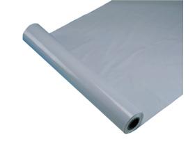 Maler- und Gipserfolie 200 cm x 50 lfm, grau gerippt, aus Regenerat