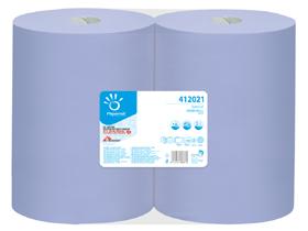 "Putztuchrollen ""Duomaxi Blue 1000"" blau 2-lagig, 38 cm x 360 m, 1'000 Blatt à"