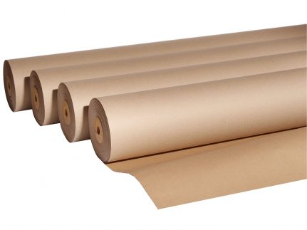 Abdeckpapier aus unkaschiertem Kraftpapier 150g/m², 130 cm x 77 lfm