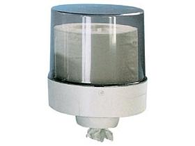 Putztuchrollenspender für MAXI-Rollen ABS-Kunststoff rauchgrau-transparent/